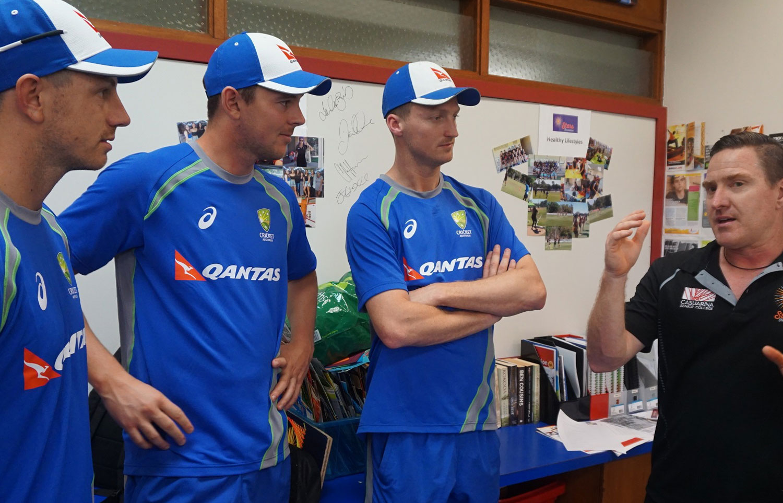 Cricket team visit