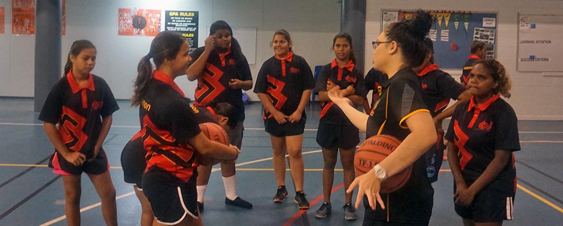 Basketball Girls Group Shot