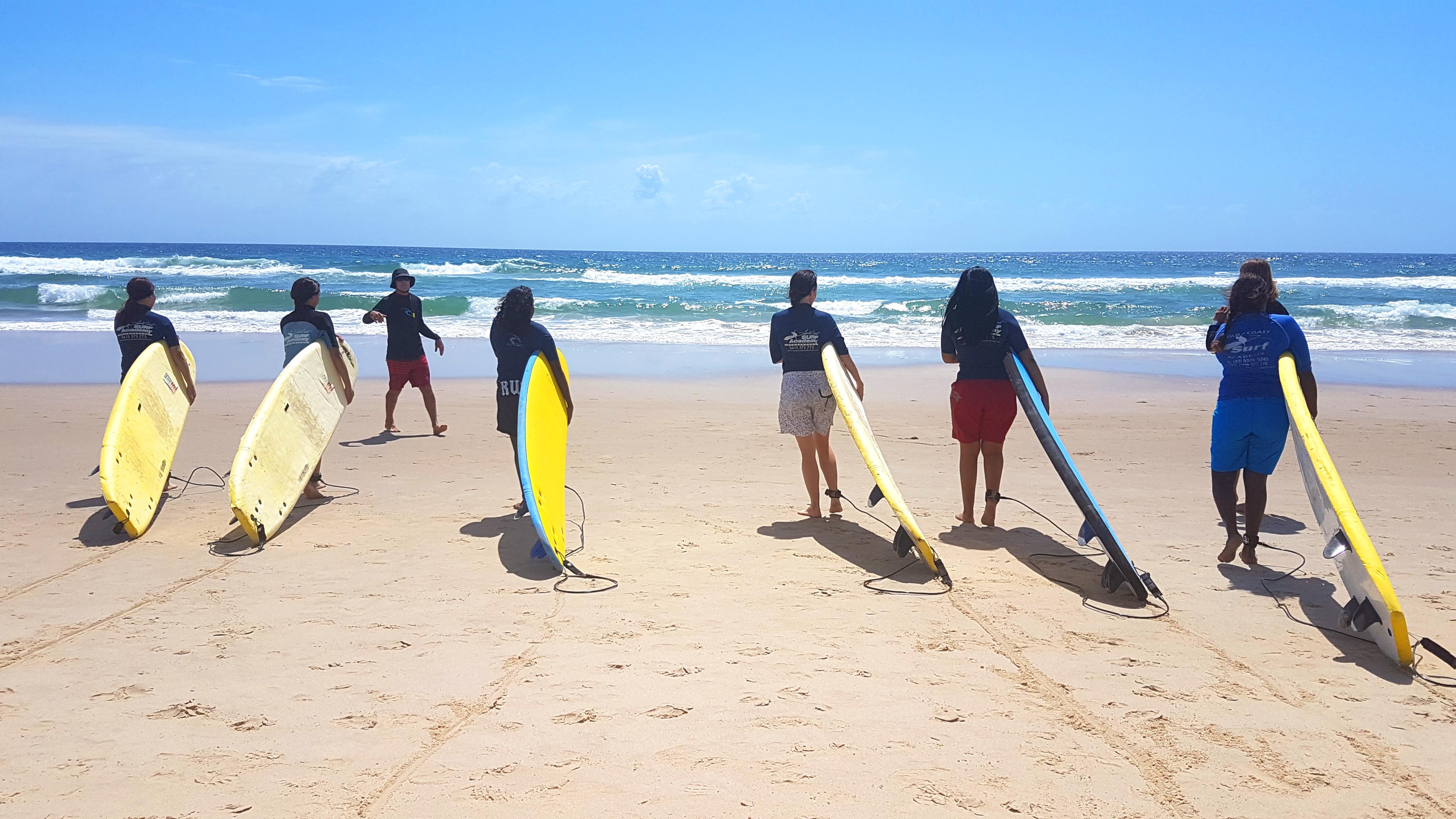 Stars Foundation girls surfing
