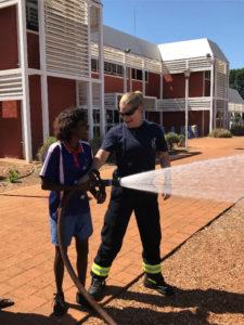 Using the fire hose